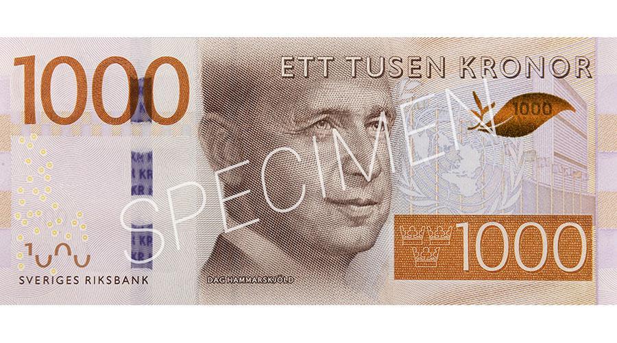 1000 Schwedische Kronen Euro
