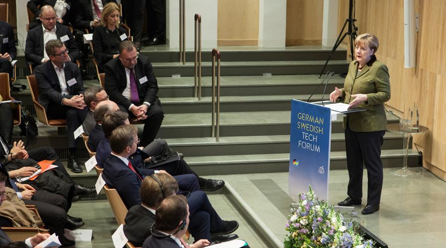 Bundeskanzlerin Angela Merkel beim German Swedish Tech Forum