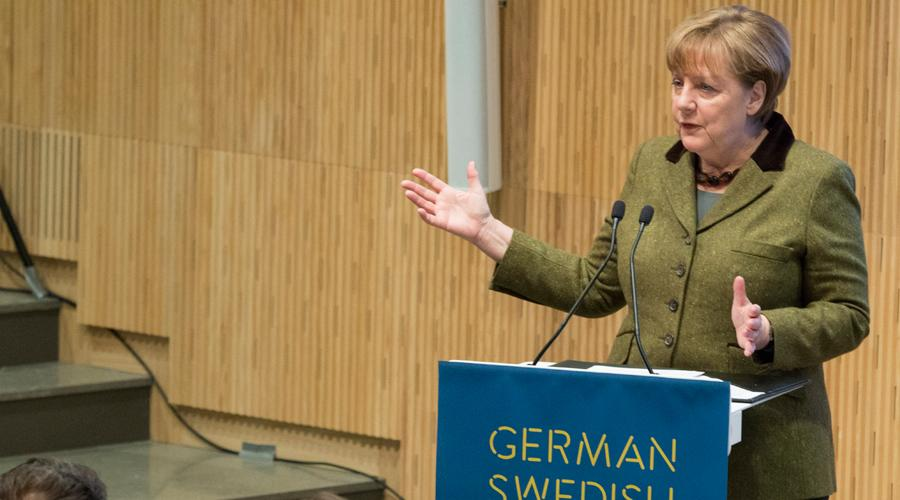 Tysklands förbundskansler Angela Merkel på German Swedish Tech Forum