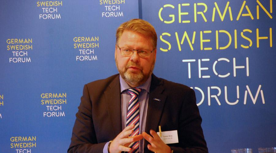 Tomas Berg beim German Swedish Tech Forum-Seminar in der Deutsch-Schwedischen Handelskammer